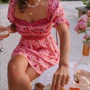 💃🏻Boho Floral Print Mini Dress